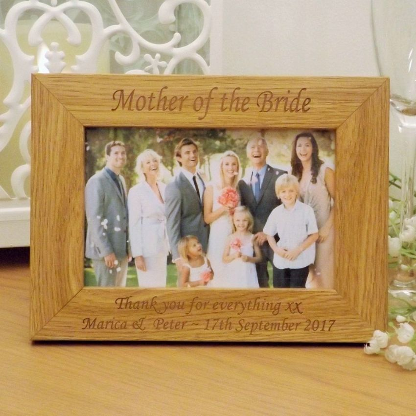 Bridesmaid Wooden Photo Frame Personalised Wedding Gift
